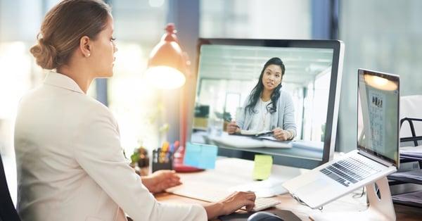 Virtual office video meeting