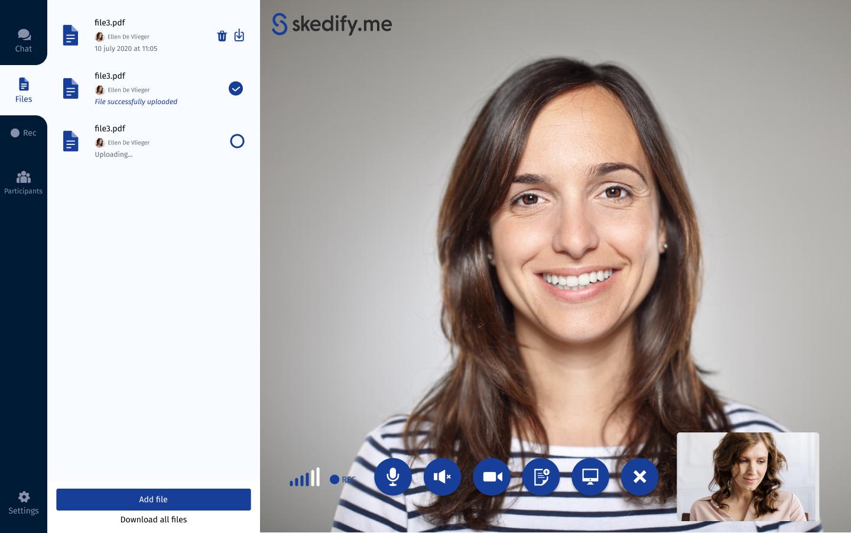 Skedify document sharing
