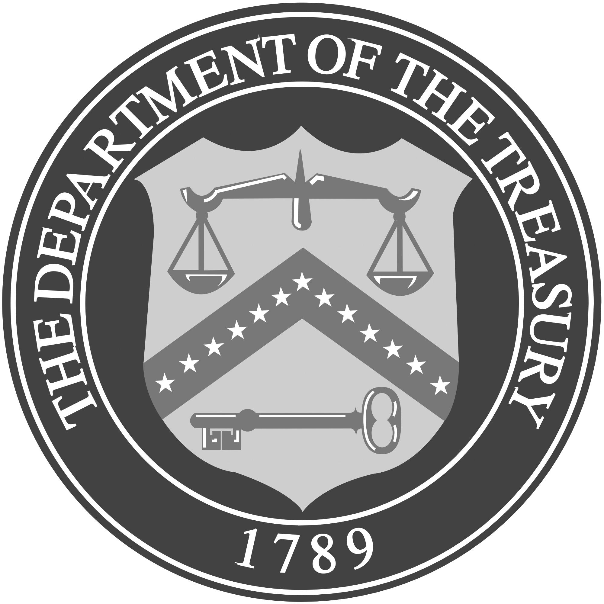 Department of treasury logo grey