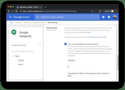Enable interop Google
