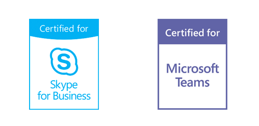 Pexip is certified for both Microsoft Teams & Skype for Business