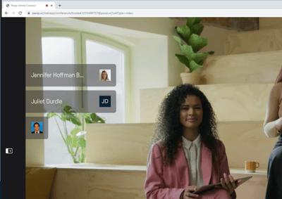 Microsoft profile pictures visible for audio participants