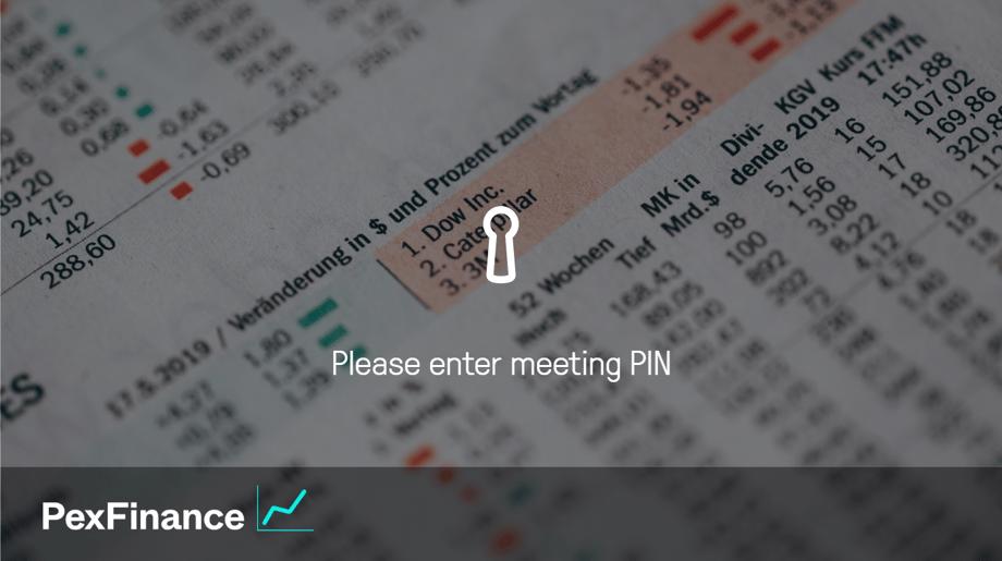PexFinance join screen pin