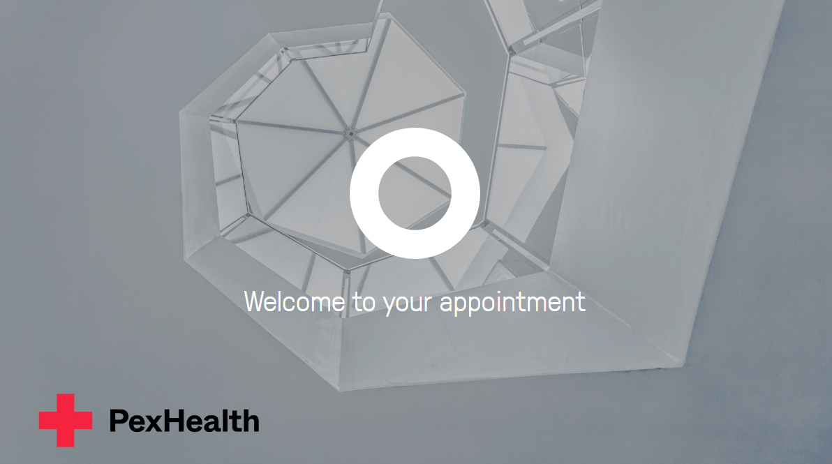 PexHealth welcome screen