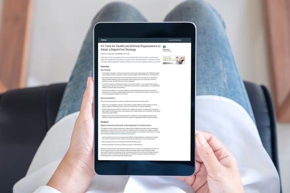 Read Gartner's latest Healthcare Report | Pexip - healthcare video solution