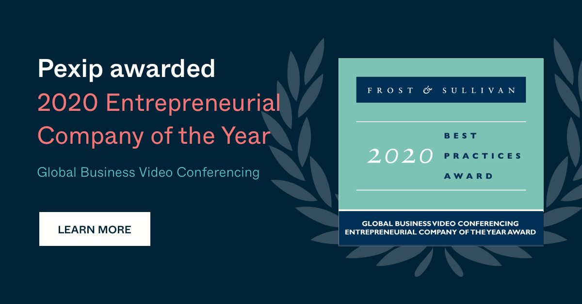 Pexip awarded 2020 Global Entrepreneurial Company of the Year