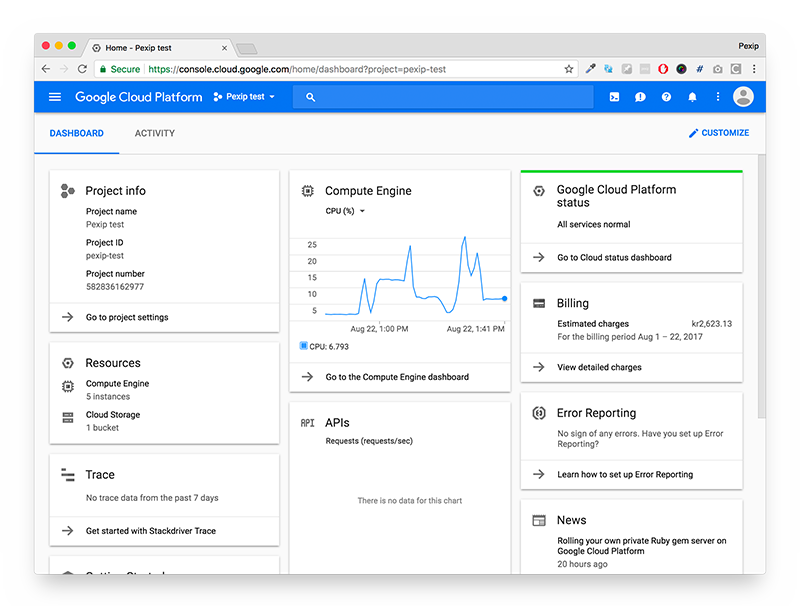 Google Cloud Platform Screenshot