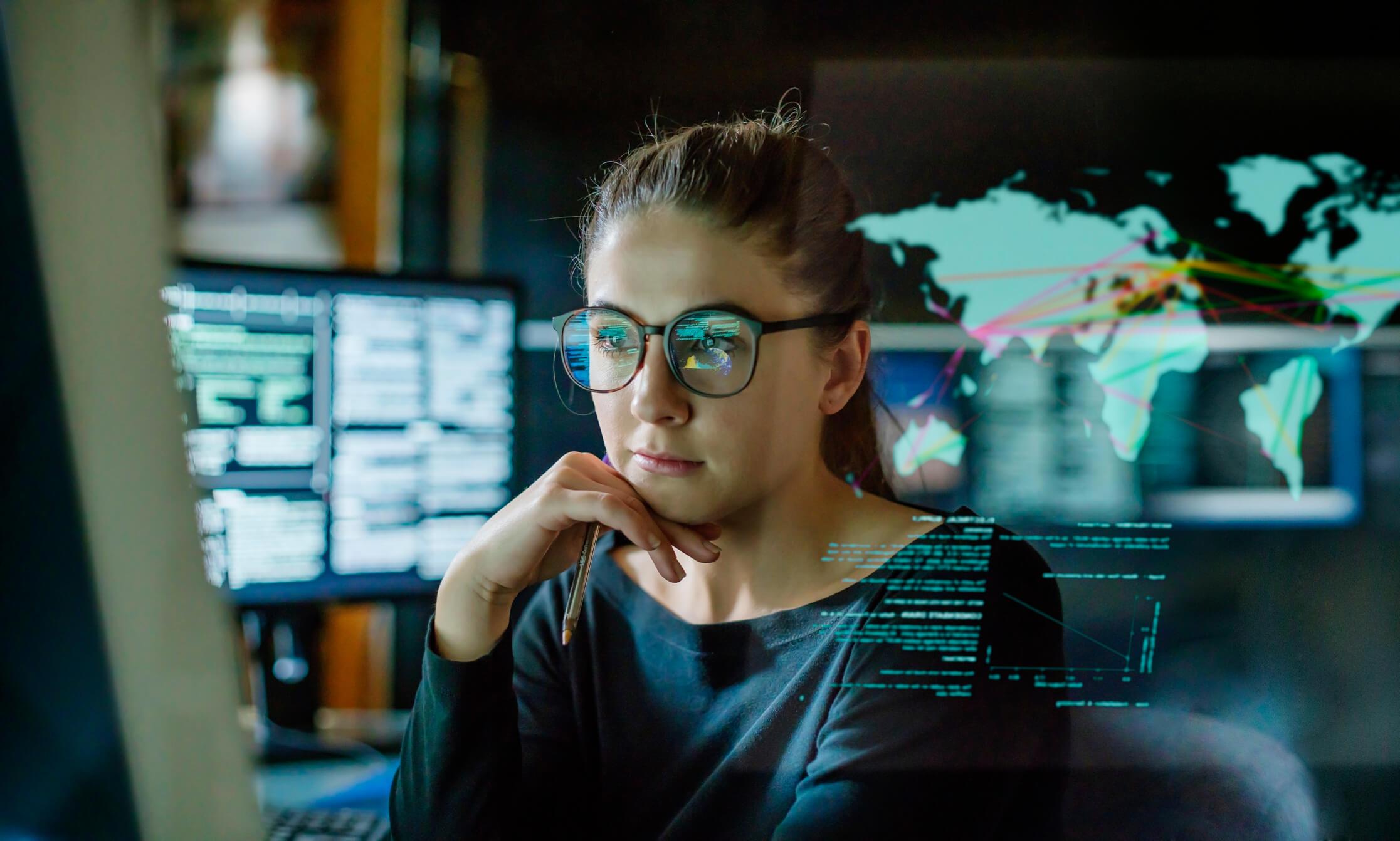 female web developer